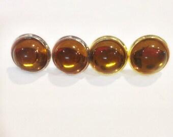 Bubble Studs in Honey, Neutral Studs, Amber Earrings, Local Honey Earrings, Sweet Like Honey Earrings, Bronze Bubble Earrings