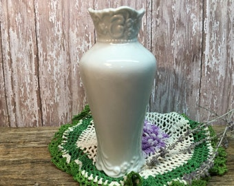 Vintage Rynne's China Vase/White/Japan