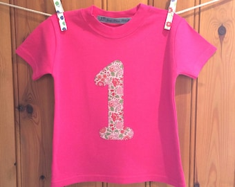 Baby girl 1st birthday outfit * 1st birthday * girl birthday t shirt * personalised t shirt * 2nd/3rd/4th birthday tshirt* Yew Tree Stitches