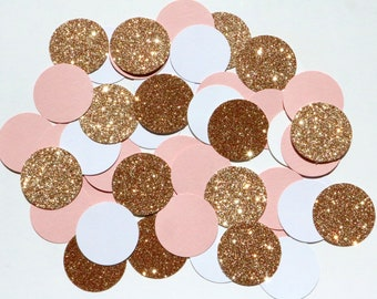 Rose Gold Confetti,  rose gold wedding, confetti, heart confetti, rose gold heart confetti, rose gold table hearts, rose gold table spray