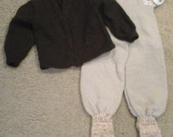 Hand knit 3 piece boys set