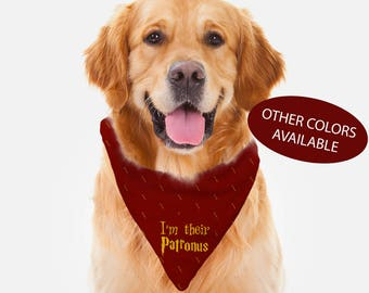 Harry Potter Pet Dog Bandana, Patronus Gryffindor Hufflepuff Ravenclaw Slytherin, Harry Potter Gift for Couple, Pet Gift Dog Pet Accessories