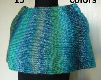 Blue knitted capelet for women Knit wrap poncho Womens cape for her Knitted poncho cape Womens poncho Knit clothing for her Custom order