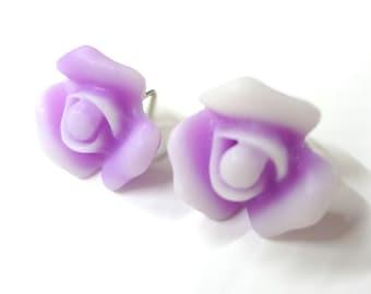 Soft Purple Blossom Post Earrings