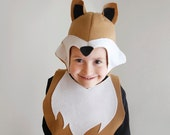 Fox PATTERN DIY costume mask sewing for boy instant download woodland animals ideas for kids baby children easter holiday Halloween gift