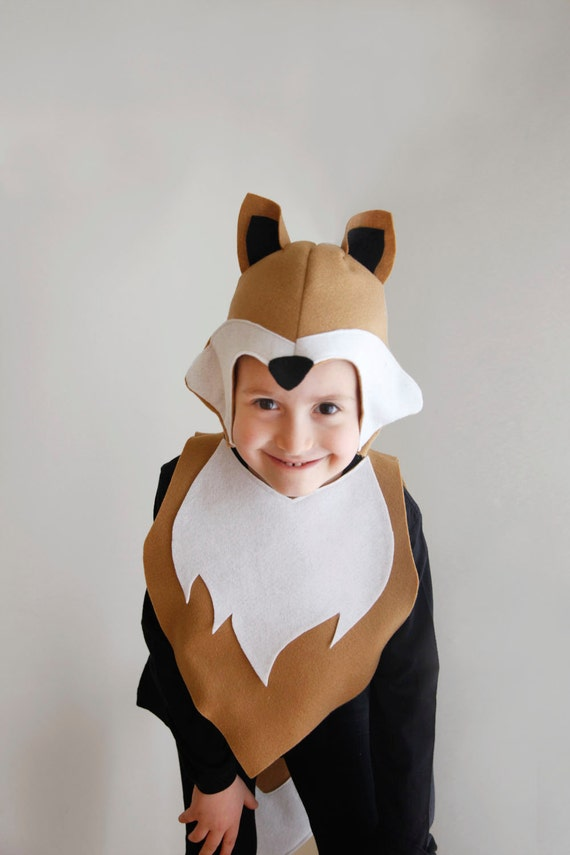 fox pattern diy costume mask sewing for boy instant download