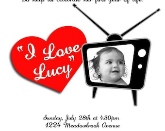 I Love Lucy Invitations