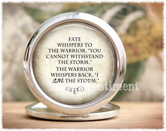 I Am the Storm • Inspirational Gift • Pocket Mirror • Compact Mirror • Inspirational Quote • Purse Mirror • Make Up Mirror
