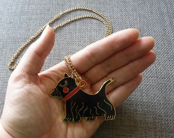 Enamel Scotty Dog Necklace