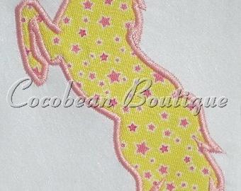 Horse embroidery applique