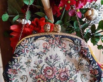 Vintage Tapestry Style Handbag Bag