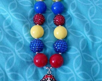 Child size Snow White chunky bead necklace