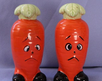 Vintage Salt & Pepper Shakers, Carrots