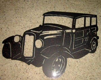 Woodie-Metal Art-Antique Automobile-Steel Art