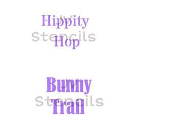Hippity Hop, Bunny Trail Stencil