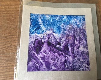 Purple mountains - Encaustic Postcard 3