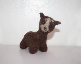 Awkward Alpaca, Needle Felting, Stuffed animal