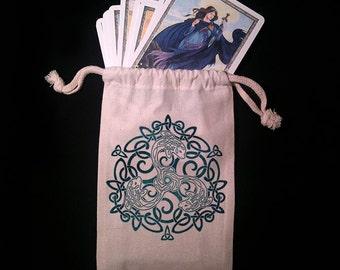 Celtic Dolphin Tarot Bag -  Pagan Wiccan  - Brigid Ashwood