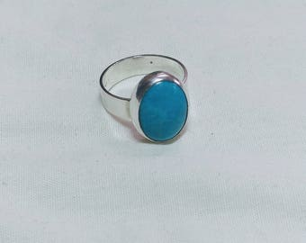 Turquoise and sterling silver ring.   jewelrybyjohndesign