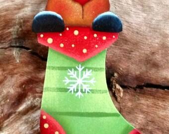 Reindeer Stocking Ornament