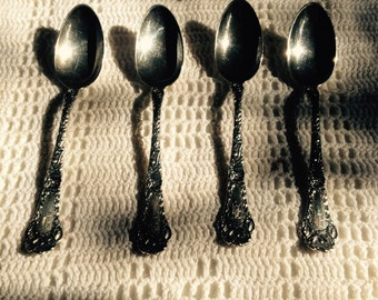 Sterling Silver Teaspoon Set Of Four