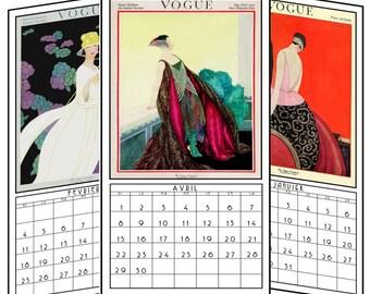 2018  French vintage Vogue calendar