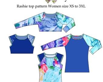 Rashie top Swim Vest Women sewing pattern
