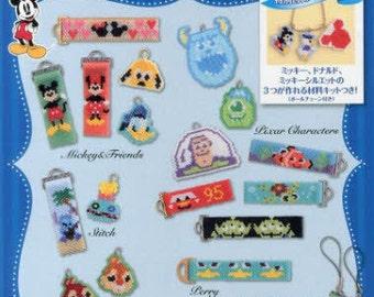 Shaped Peyote Stitch Disney Characters Beaded Motifs Blue - Japanese Craft Book