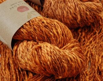 COTTON LINEN yarn~ LINCOT~ Carrot Tops ~ summer yarn, knitting yarn, crochet, weaving, texture, linen, flax, rustic, cotton