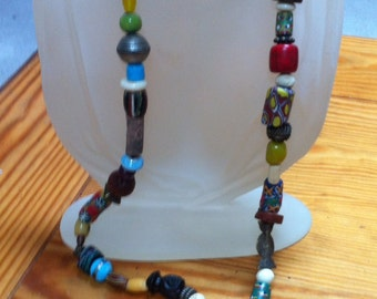 Rare African trade beads necklace