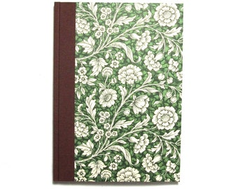 Large Address Book, floral green brown, A5 phone book, telephone directory book,  gift for mom and dad, birthday gift idea for mom