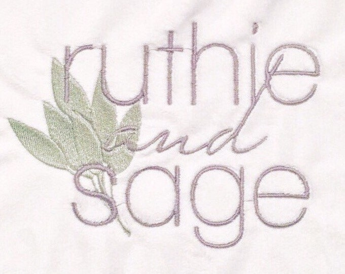 Embroidery with Extra Words or graphic