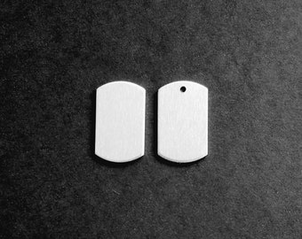 Pre-Sale on Aluminum Blank with a 1 1/4 inch x 3/4 inch small dog tag 14g Aluminum Stamping Blanks Hand Stamping Jewelry Supplies Necklace