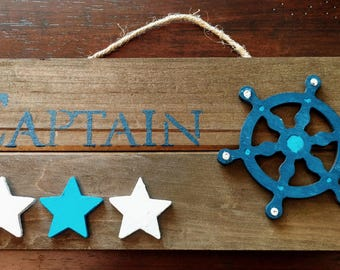 Captain Gifts, Beach Art, Gifts for Boaters and Captains