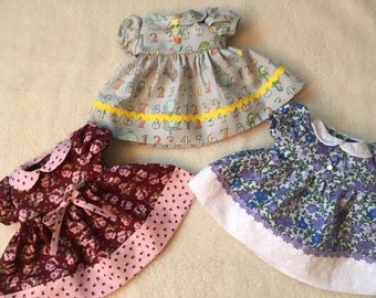 Doll Dress W/Matching Hair Accessory; Doll Clothes; Fits 15 and 16 inch Baby Dolls
