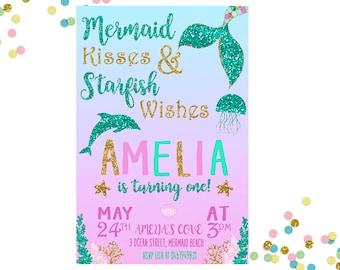 Mermaid Invitation Mermaid Birthday Invitation Mermaid Invitation Under The Sea Invitation Mermaid Birthday Party