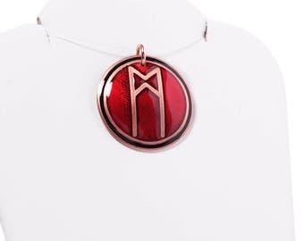 custom rune pendant, elder futhark rune, rune charm, rune pendant, rune necklace, viking runes, initialed pendant, futhark, algid, raidho