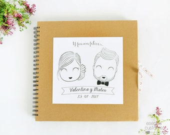 """Custom Wedding Guest Book """"Happily ever after"""""""
