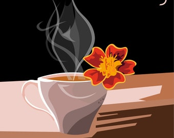 Floral Coffee