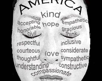 Make America Kind/Hope/Love Again pack of 10 postcards-free domestic shipping