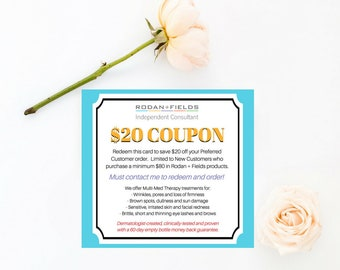 Client Coupon Card • Front and Back •  Instant Download, Editable Template, Digital, Templett [id:356147]