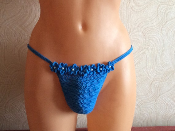 men's G string, Erotic man, Sexy Men's G string, Thongs Erotic, blue thong, mens thong with flowers, erotic strings for men, romantic mens