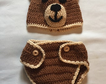 Newborn Crochet Bear Costume
