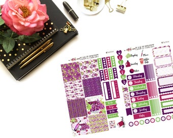 It's 5 O'clock Somewhere mini HP Kit// MINI HP Weekly Kit// 2 sheets of planner stickers