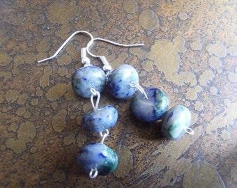 Blue Away Sodalite Beaded Dangle earrings