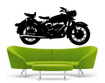 Classic Motorcycle vinyl Wall DECAL- BMW R69, harley davidson, sticker art