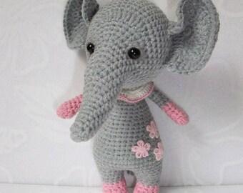 Crochet Stuffed Elephant