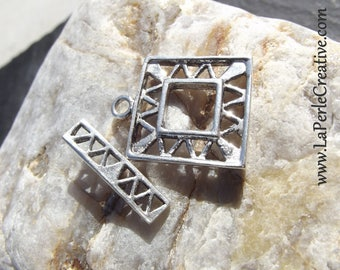 Square 925 sterling silver clasp