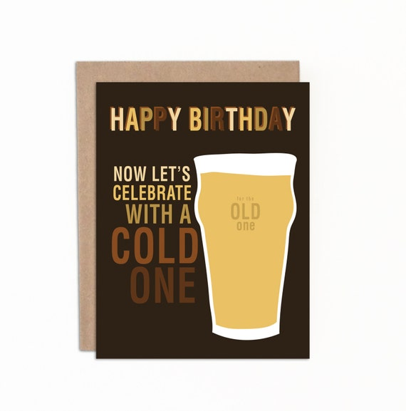 Funny beer birthday card for him or her now lets like this item bookmarktalkfo Gallery
