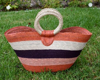 Colorful Straw beach bag,straw bag,beach bag,Mexican bag, summer bag, vacation bag, made in mexico